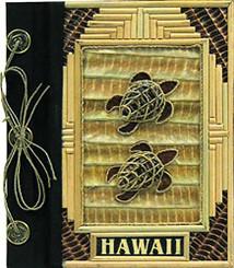 """Islander Hawaii Photo Album Bamboo 2 Turtles 7"""" x 7"""""""