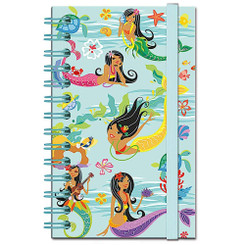 Notebook with Elastic Band Island Hula Mermaids