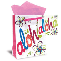 Hawaiian Mini Gift Bag 6 Pack Bold Aloha
