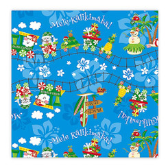 Hawaiian Continuous Holiday Gift Wrap Paper 2 Rolls Aloha Express