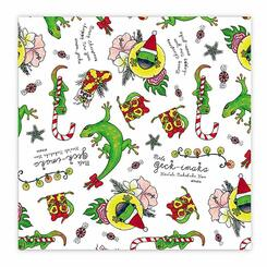 Hawaiian Continuous Holiday Gift Wrap Paper 2 Rolls Mele Geck-Imaka