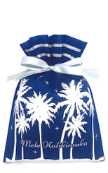 Hawaiian Drawstring Small Holiday Gift Bags 3 Pack Twilight Palms