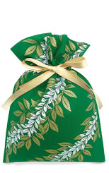 Hawaiian Drawstring Small Holiday Gift Bags 3 Pack Maile Lei