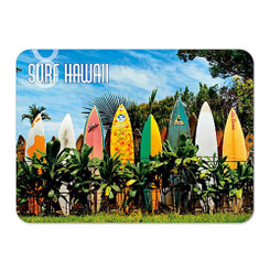 Hawaii Die-Cut Tin Magnet Surfboard Fence