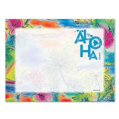 6 Rectangular Stick n Notes Hawaii Tropical Aloha