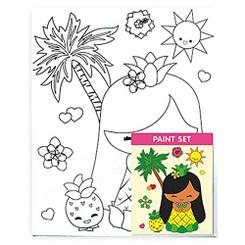 Hawaiian Childrens Canvas & Paint Set Island Yumi Mai