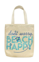 Woven Totes Don't Worry Beach Happy