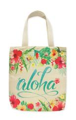 Woven Totes Hawaii Aloha Floral