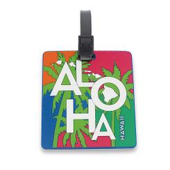 Hawaii PVC Id Luggage Tag Tropical Aloha