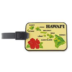 Hawaii PVC Id Luggage Tag Islands