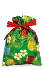 Hawaiian Drawstring Small Holiday Gift Bags 3 Pack Ornaments of The Islands