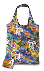 Foldable Tote Shopping Bag Tropical Aloha