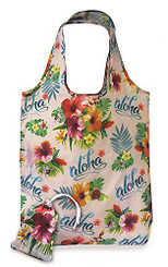 Foldable Tote Shopping Bag Aloha Floral