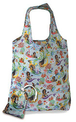 Foldable Tote Shopping Bag Island Hula Mermaids