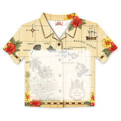6 Pack Islands of Hawaii Tan Aloha Shirt Stick 'N Notes