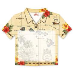6 Pack Islands of Hawaii Tan Aloha Shirt Stick 'N Notes
