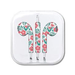 Hawaiian Style Ear Buds Aloha Floral