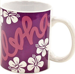 Hawaiian Aloha Heart Coffee Mug