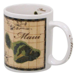 Maui Map 11 oz Stoneware Mug