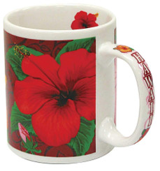 Hawaii Coffee Mug Hibiscus Trio