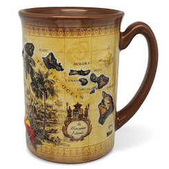 14 oz. Boxed Hawaiian Embossed Coffee Mug Islands