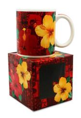10 oz. Hawaiian Mug Hibiscus Aloha