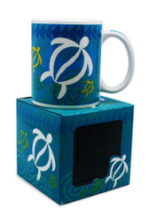 10 oz. Hawaiian Mug Swirling Honu