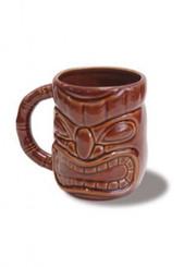 Tiki 12 Oz. Mug Dark Brown