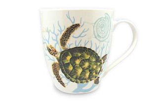 18 oz Hawaiian U-Shape Mug Honu Turtle Voyage