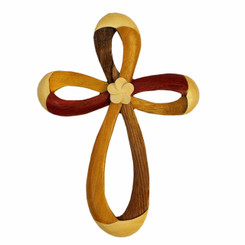 Wood Wall Hanging Infinity Cross Large