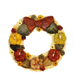 Handmade Wood Christmas Ornament Flower Wreath
