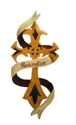 Wood Wall Hanging Redemption Cross