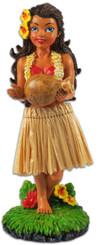 Hinu IPU Hula Girl Dashboard Doll