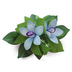 Hawaii Hair Clip Foam Flower Cluster Blue Purple Orchid