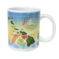 10 oz. Boxed Hawaiian Coffee Mug Hawaii Statehood 1959