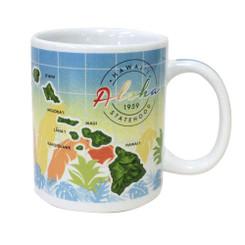 10 oz. Boxed Hawaiian Coffee Mug Hawaii Statehood 1959