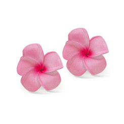 Hawaii Hair Clip Foam Baby Flowers Plumeria Pink