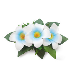 Hawaii Hair Clip Foam Flower Cluster Plumeria Blue
