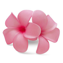 Hawaii Hair Clip Foam Double Flower Plumeria Pink