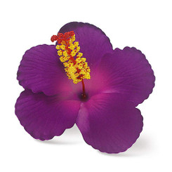 Hawaii Hair Clip Foam Flower Hibiscus Purple