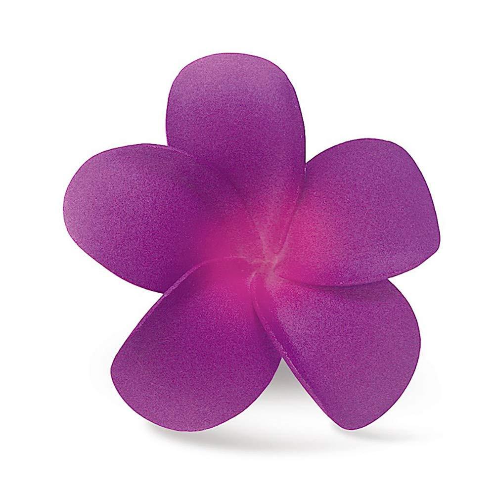 46eb1e194 Hawaii Hair Clip Foam Flower Plumeria Purple - Buns Of Maui