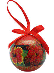 Hawaiian Hibiscus Flowers Island Boxed Christmas Ornament