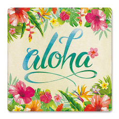 Hawaii Ceramic Coasters 4 Pack Aloha Floral
