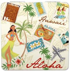 Hawaii Compact Mirror Stamped with Aloha