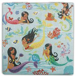 Compact Mirror Island Hula Mermaids