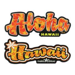 Nalu Blue Decal Set of 2 Aloha
