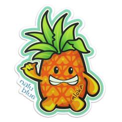 Nalu Blue Decal Aloha Pineapple