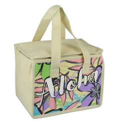 "Insulated Tote Bag Aloha 9"" x 6.5"" x 6.5"""