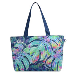 "Tote Bag Aloha Monstera 16"" x 11"" x 5"""