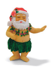 Hand Painted Hula Santa Ornament